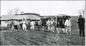 1890년 미국 북장로교 선교사 언더우드의 순회전도 일행