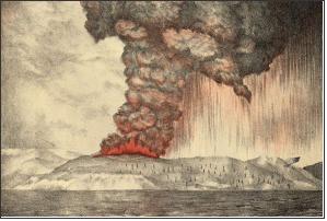 Krakatoa 화산 폭발