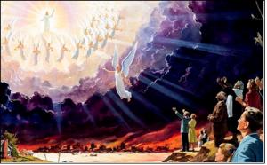 주께서 호령과 천사장의 소리와 하나님의 나팔 소리로 친히 하늘로부터 강림하시리니(살전 4:16)