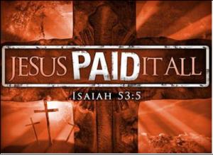 그가 찔림은 우리의 허물 때문이요 그가 상함은 우리의 죄악 때문이라. 그가 징계를 받으므로 우리는 평화를 누리고 그가 채찍에 맞으므로 우리는 나음을 받았도다.(사 53:5)