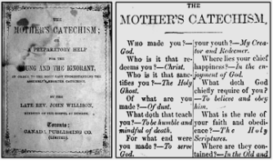 THE MOTHER'S CATECHISM; OR A PREPARATORY HELP FOR THE YOUNG AND THE IGNORANT, BY THE LATE REV. JOHN WILLISON, 1730?